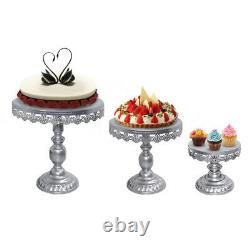 14Pcs Crystal Decor Cake Stand Gold Metal Cupcake Holder with Crystal Plates Set