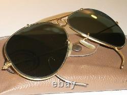 1960's VINTAGE B&L RAY-BAN G15 UV ARISTA GOLD PLATED SHOOTING AVIATOR SUNGLASSES