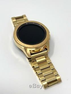 24K Gold Plated 42MM Samsung Galaxy Watch Gold Link Band CUSTOM 2018 Model