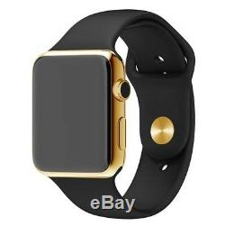 24K Gold Plated 44MM Apple Watch SERIES 4 Gold Links Band CUSTOM Free SB UNIQUE