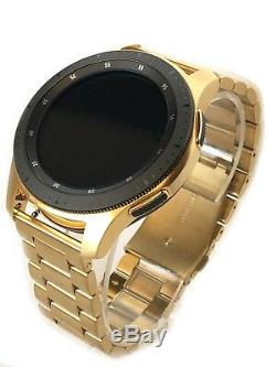 24K Gold Plated 46MM Samsung Galaxy Watch with Gold Link Band 2018 Model