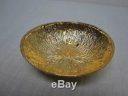 3 Michael Aram Gold Plated Aluminum 4 1/4 Lemonwood Bowls