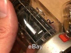 3 Vintage Genalex Gold Lion KT-88 Tubes Black Plate Metal Bases 6550 TESTED