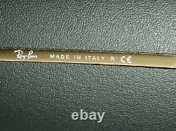 62mm RAY BAN ITALY RB3119 G15 GOLD PLATED OLYMPIAN FLEX HINGES WRAPs SUNGLASSES