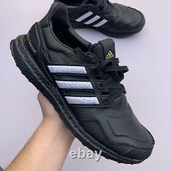 Adidas Ultra Boost Dna Leather Eg2043 Black White Gold Superstar Mens 9.5 New