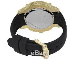 Aqua Master Yellow Gold Plated Limited Edition Nicky Jam Diamond Watch NJ1 5.0Ct