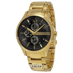 Armani Exchange Black Dial Chronograph Gold-plated Unisex Watch AX2137