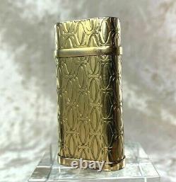 Authentic C de Cartier Gas Lighter 2C Logo Decor 18K Gold Plated with No Box