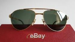 Authentic Cartier Santos Dumont Edition, gold plated sunglasses