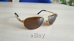 Authentic Cartier Santos Dumont Edition, gold plated sunglasses. Excellent cond
