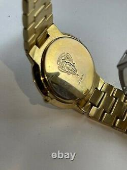 Authentic Gucci 3300M 18K Gold Plated Mens Swiss Dress Watch