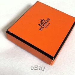 Authentic Very Beautiful HERMES Scarf Ring Hook Gold Plated with Box