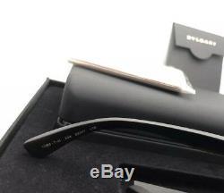 BVLGARI Eyeglasses 1086-T-K 394 Silver Gold Plated Black Rimless Titanium withWood