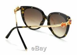 BVLGARI Sunglasses GOLD PLATED 8089-K 5193/3B HAVANA AMETHYST/BROWN LIMITED EDIT