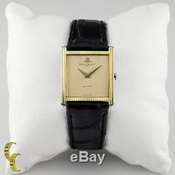 Baume & Mercier Square Gold-Plated Quartz Watch with Leather Band 4749