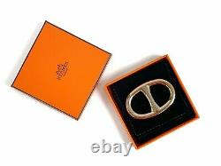 Bnib 100% Authentic Hermes Scarf Ring Permabrass Plated Metal
