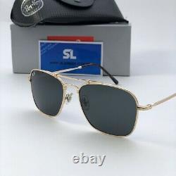 Brand New 2021 Ray Ban Sunglasses Rb 8136 913658 CARAVAN Titanium Gold Plated S