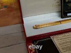 CARTIER must de cartier Vendome Oval Trinitty Ring Gold Plated Fountain Pen