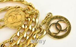 CHANEL Gold, Metal Chain CC Medallion Belt/Necklace fits up to 32 (nr)