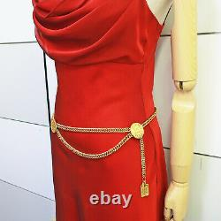 CHANEL Gold Plated CC Cambon Charm Vintage Chain Belt #152c Rise-on