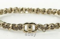 CHANEL Gold Plated Metal Bracelet Bangle Chain CC Logo S12P Ladies Used Ex++