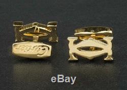 Cartier Cufflinks Initials Gold plated jewelry Cuff Links Men's Fashion Designer