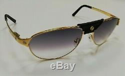 Cartier Paris special -Edition Santos DUMONT- Gold Plated Exclusive sunglasses