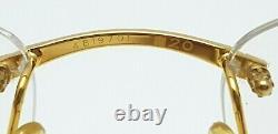 Cartier Rectangle Rimless Optical Unisex Eyewear Glasses 18KT Yellow Gold Plated
