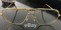 Cartier Vintage Aviator Glasses 1988 Tank 62 -12 Gold Plated 140 Very Rare