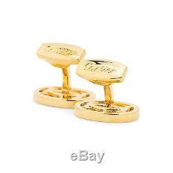 Cartier cufflinks Gold plated Mens Designer Fashion jewelry Metal Cuff Links NEW