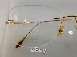 Caviar 24 Karat Gold Plated Lunettes M7002 C21 Rimless Eyeglasses 56-18-140