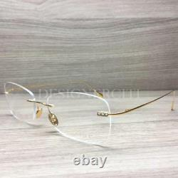 Caviar M7003 7003 Eyeglasses 24 Karat Gold Plated C21 Authentic 55mm