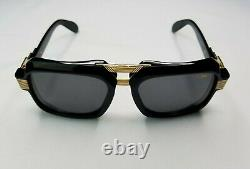 Cazal Legends Mod. 669 Col. 001 Black Gold Plated Sunglasses Made In Germany