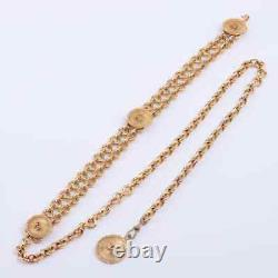 Chanel COCO Mark Chain Belt Gold Plated Gold