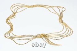 Christian DIOR Gold Plated Multi Chain Tassel Waist Belt