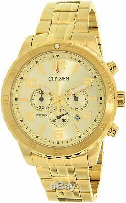 Citizen Men's AN8132-58P Gold Stainless-Steel Plated Japanese Quartz Sport Watch