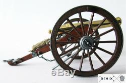 Civil War Cannon 24K Gold Plated Metal Built Model 9.8 USA 1857 Field Artillery