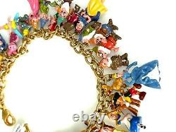 Disney 37 Character Charm Bracelet in 24ct Gold Plate