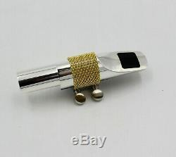 Eastern music fat boy metal tenor sax mouthpiece with ligature in gold/silver