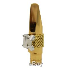 Eastern music professional Gold plated metal Tenor Saxophone mouthpiece 7 Star