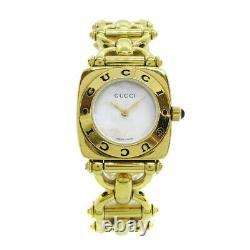 GUCCI 6400L Ladies Quartz Wristwatch Watch Gold plated 0089773 31195