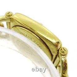 GUCCI 6400L Ladies Quartz Wristwatch Watch Gold plated 0118878 32922