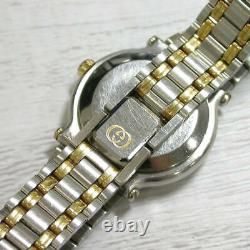 GUCCI 9000L black Dial Quartz Stainless Steel/Gold Plated Analog Ladies Watch