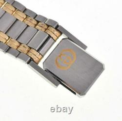 GUCCI 9000M Stainless Steel/Gold Plated Ivory Dial Quartz Men's Watch G#106500