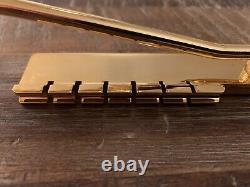Gibson Vibrola Tremolo Maestro Tailpiece Gold Plated Brass