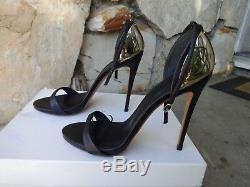 Giuseppe Zanotti Gold Plated Ankle Strap Sandals Size EU 40