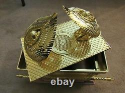 Gold Plated Copper JUMBO SIZE ARK OF THE COVENANT Jewish Testimony Israel Gift