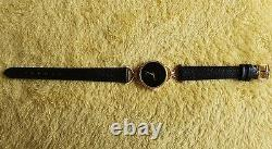 Gucci 6000L 18k Gold Plated Women's Watch with Black Dial (NR584)