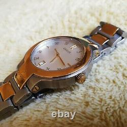 Gucci 8900M 18K Gold Plated & Stainless Steel Men's/Women's Watch 35 mm (NR704)