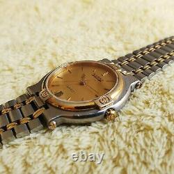Gucci 9000M 18K Gold Plated & Stainless Steel Men's/Women's Watch 32 mm (NR738)